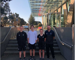 Finn, George, Kahlia and Matt heading to the Youth Olympics in Buenos Aires, 2018